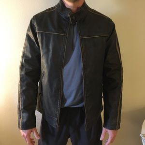 Arizona vegan leather jacket, brown